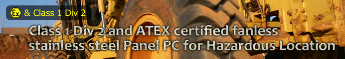 Class 1 Div 2 and ATEX certified fanless stainless steel