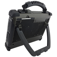Adjustable kickstand available an optional accessory for the ultra rugged tablet series