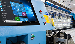 M-Series HMI embedded into an operator control panel in the production line.