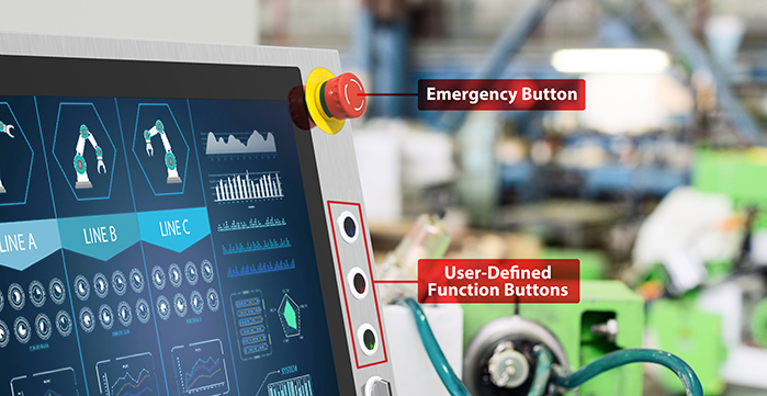 User-Defined  Function Buttons and Large Emergency Button