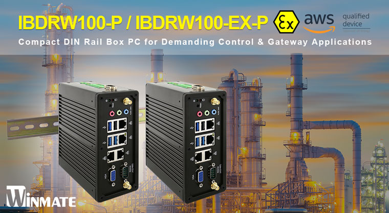 Winmate Unveils IBDRW100-P and IBDRW100-EX-P DIN Rail Box PC with Intel® Pentium® N4200 Processor