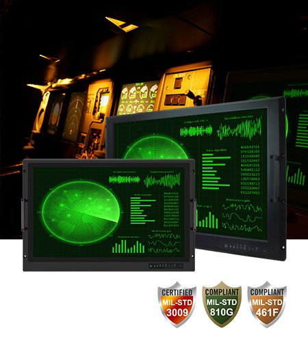 """Military Console Rack Panel PC & Display 19""""/24"""""""